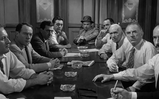 men at table