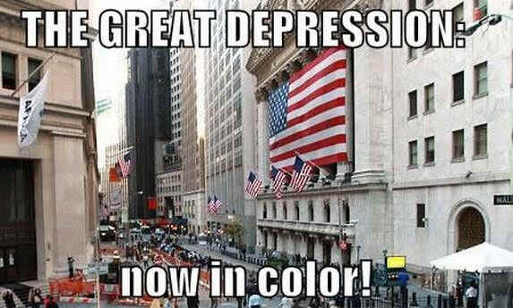 great depression in color