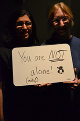 audience member's message from PostSecret: Unheard Voices