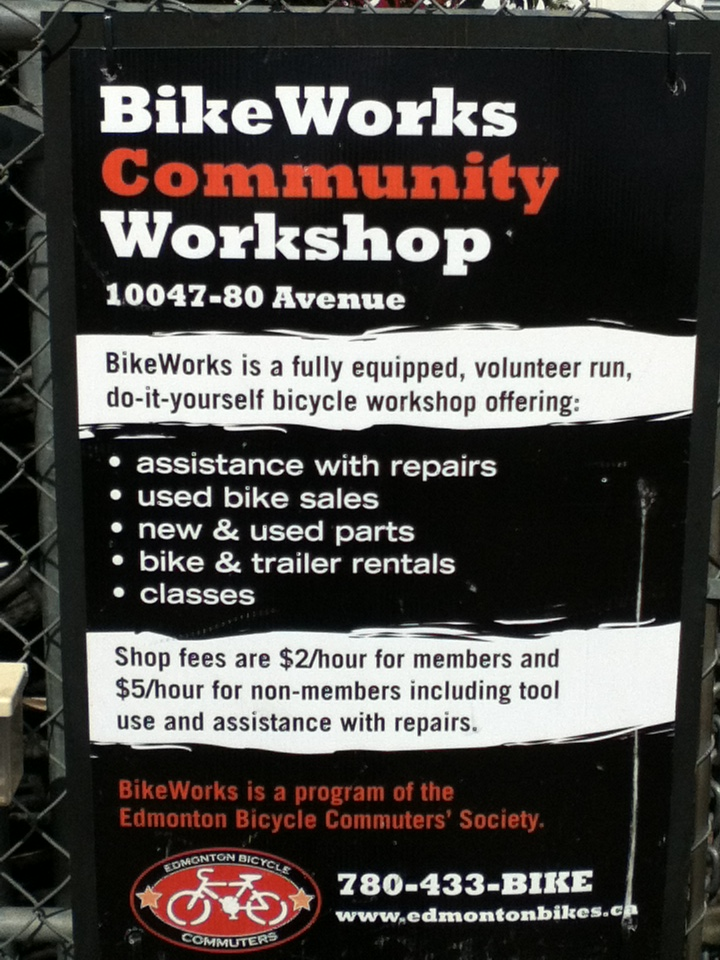 Bikeworks sign