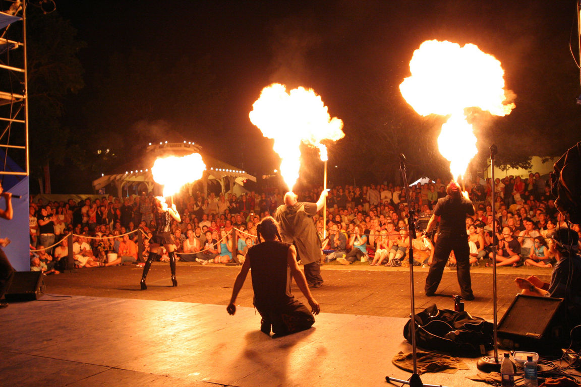 Fire breathers at the Edmonton Fringe