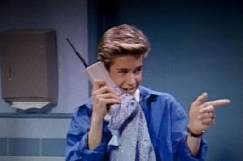 giant cell phone on saved by the bell