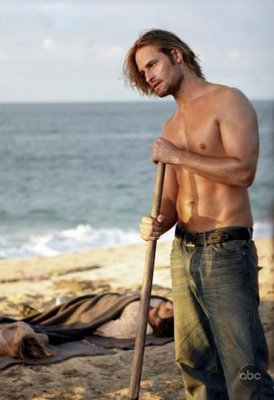 Sawyer from Lost, shirtless and lookin' good