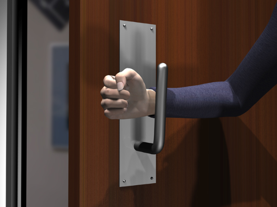"""sanit-grasp"" - opening a door with a wrist"