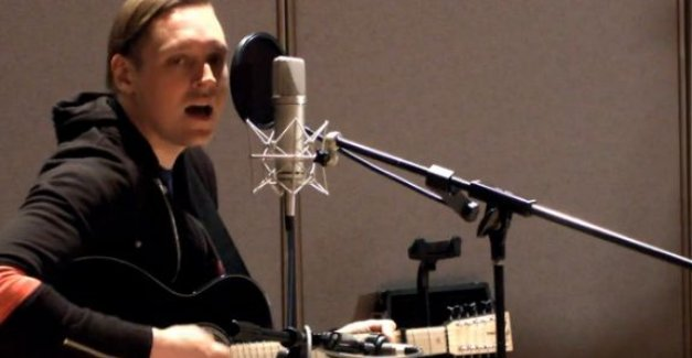 Win Butler from Arcade Fire in studio