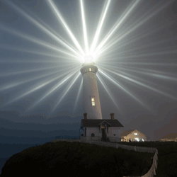 lighthouse shining