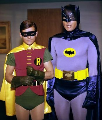 Batman and Robin on the 1960s TV show
