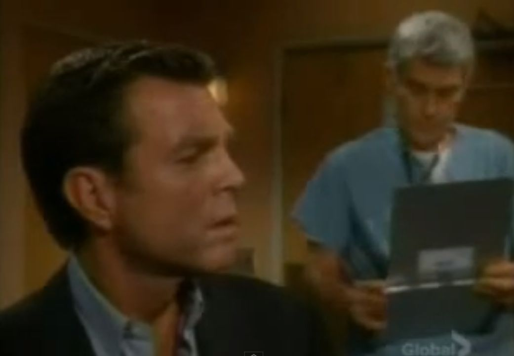 a guy receiving bad news, in a hospital, on Y & R