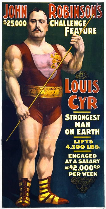 old school circus strongman