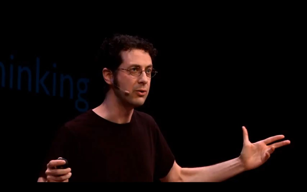 TJ Dawe giving a TED talk