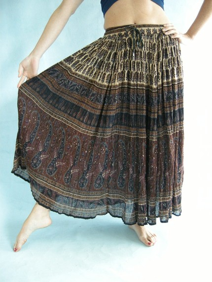 flowy hippie skirt
