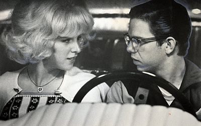 Candy Clarke and Terry the Toad in American Graffiti