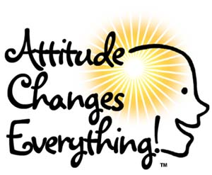 Attitude Changes Everything - with a smiling face
