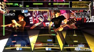 Screen from Rock Band