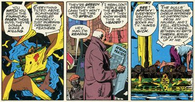 three panels from Watchmen