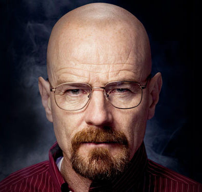 bald guy with a goatee (walter white, from Breaking Bad, incidentally)